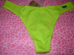 Victoria Secret PINK Sexy Thong String V-Cut Neon Lime Punch XS S M L XL XXL NWT