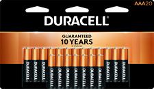 20 Pack Duracell AAA Alkaline 1.5V Batteries
