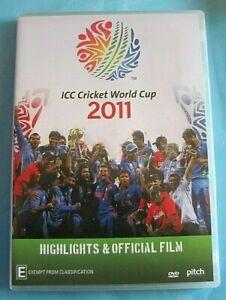 ICC CRICKET WORLD CUP 2011 Highlights & Official Film DVD Reg 4 AUST see below