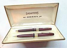 "1960 Sheaffer""s Burgundy Pfm Iii Ball Pen & Pencil Set Sheaffer's box Excellent"