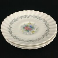 Set of 3 VTG Saucer Plates by Royal Doulton Windermere Floral 4856 England