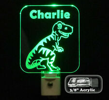 Personalized Kids Dinosaur LED Night Light, T-Rex