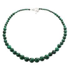 Malachite gemstone necklace 4 - 12mm Y2J2 N1L7
