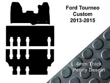 Ford Tourneo Custom (2013-2015) Fully Tailored Black Rubber Van Floor Mat - LWB