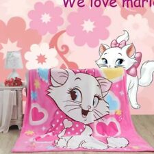 cute Marie Cat sitting coral fleece quilt blanket blankets soft carpet new