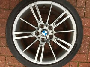 "BMW 3 SERIES MV3 18"" STYLE 193M REAR ALLOY WHEEL & TYRE E91 E92 E93 7843841 OEM"
