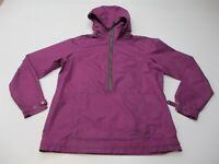 COLUMBIA Jacket Women's Size M Half Zip Hooded Purple Anorak Windbreaker