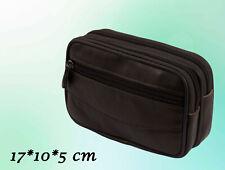 Herren Tasche Echtes Leder Gürteltasche Braun 17 x 10 x 5 cm