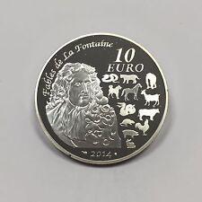 FRANCE - 10 EURO - 2014 - Pièce de Monnaie en Argent // BE - ANNEE DU CHEVAL