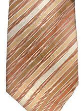 """Kenneth Cole Men's Silk Tie 60"""" X 4"""" Multi-Color British Stripes"""