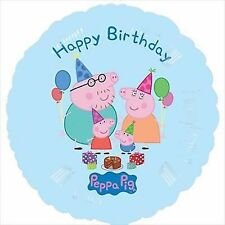 "Peppa Pig Party Supplies - Peppa Pig ""Happy Birthday"" 45cm Round Foil Balloon"