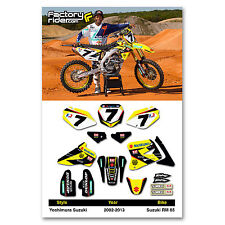 SUZUKI RM 85 Graphics Kit 2002-2014 Dirt Bike Motocross Graphics kit  Enjoy Mfg