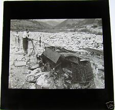 Glass Magic Lantern Slide PRODUCING STEEL OR OIL ON THE BEACH C1910 NORWAY