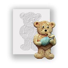 Moule silicone-Teddy Bear & baby-plat soutenu mini sculpture-sécurité alimentaire