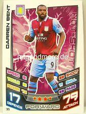 Match Attax 2012/13 Premier League - #035 Darren Bent - Aston Villa