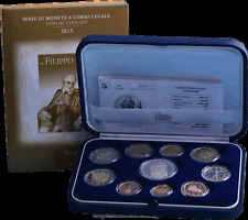 """2015 Italy Annual coin Proof set """"Filippo Neri"""" 10 coins with 5 euro silver NIB"""