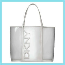 DKNY White & Opaque Shopper /  Tote Bag