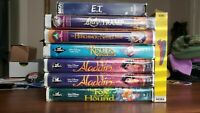 RARE Disneys Classic BLACK DIAMOND Edition VHS Tapes [TWO COPIES ALADDIN #1662]