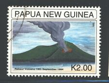 PAPUA NEW GUINEA Sc884 SG771 Used 1995 2k Anniv Rabaul Eruption SCV$4