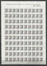 Q5097A-HOJA PLIEGO COMPLETO 100 SELLOS MNH** HUERFANOS TELEGRAFOS SOBRECARGA 5 P