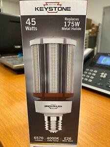 👀 NEW KEYSTONE 45 WATT HID RETROFIT LAMP 6570 LUMENS 4000K COLOR TEMP E26 BASE