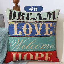 Newest Throw Pillow Case Waist Back Cushion Cover Sofa Seat Decor Vintage Style