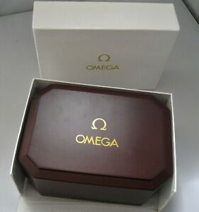 Vintage Mans Omega Acrylic Presentation Watch Box With Outer Box Good Condition