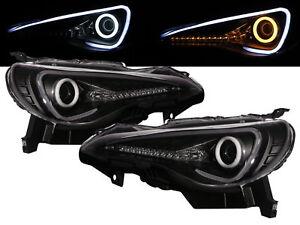 BRZ 12-present Cotton Halo Dynamic Turn Signal D4S Headlight BK for SUBARU LHD