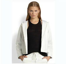 New T by Alexander Wang Hooded Leather Jacket XS white coat Feels so soft