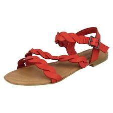 37 Scarpe da donna cinturini alla caviglia rossi