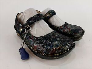 Alegria Belle Veranda Slim Mary Jane Shoes Colorful Glitter Euro 35 US 5 - 5.5