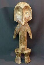 D Art Africain grande statuette ancienne Zende Congo 49cm1.7kg cauris originale