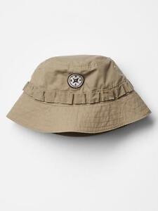 BABY GAP BOY'S TAN KHAKI SAFARI CARGO HAT $16.95 0-6 MO BNWT