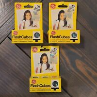 Lot of 12 GE Flash Cubes Guaranteed Flashes for Standard Flashcube Camera 3 Pack