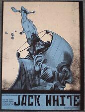 Jack White 2015 Albuquerque NM Print Poster Signed Rob Jones Stripes Third Man