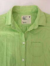 American Eagle 4 Shirt Womens Button Front Green Long Sleeve Collared Boyfriend
