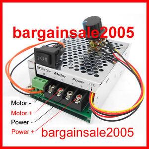 HLDR40A2KW PWM DC Reversible Variable Motor Speed Regulator Controller 40A10~50V
