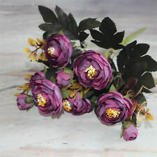 Camellia Bouquet Party Home Floral Decor Silk Flowers Wedding Artificial Rose