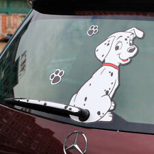 Car Cartoon Spotted Dog Moving Tail Stickers Reflective Window Wiper Decals 2017