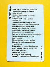 Citizens Band Radio Lingo Language Cb Joker Single Swap Playing Card