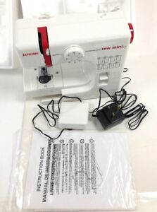 Janome Sewing Machine 525 Mini Machine Tested White Hobby Haberdashery Sewing
