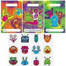12 x MONSTER PARTY BAGS EMPTY TOY BAG LOOT FILLERS GIFT PINATA