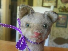 Antique Vintage 1950s mohair Steiff Susi Cat Teddy Bear Friend 5in fair/good