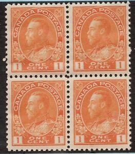 #Sc 105 - Canada - 1922 - 1c Admiral - F/VF MNH DG - superfleas - cv$300