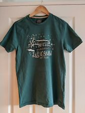 Men's Small Fat Face T Shirt Pine Green 'Let it Snow'