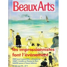 BEAUX ARTS n°123 mai 1994 Bernard Venet musée de Nantes impressionnisme Miro