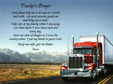 """Personalized Gift """"TRUCKER'S PRAYER"""" for Dad, Truck Driver, Father's Day ***L@@K"""