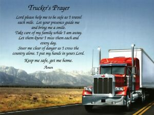 TRUCKER'S PRAYER Personalized Gift for Dad, Truck Driver, Father's Day,Christmas