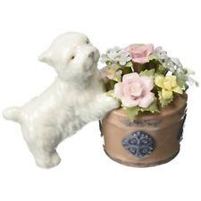 Cosmos 80017 Westie Dog and Flower Basket Musical Figurine, 4-1/8-Inch