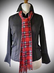 Red tartan scarf - Royal Stewart Traditional Scottish - unisex  polar fleece tie